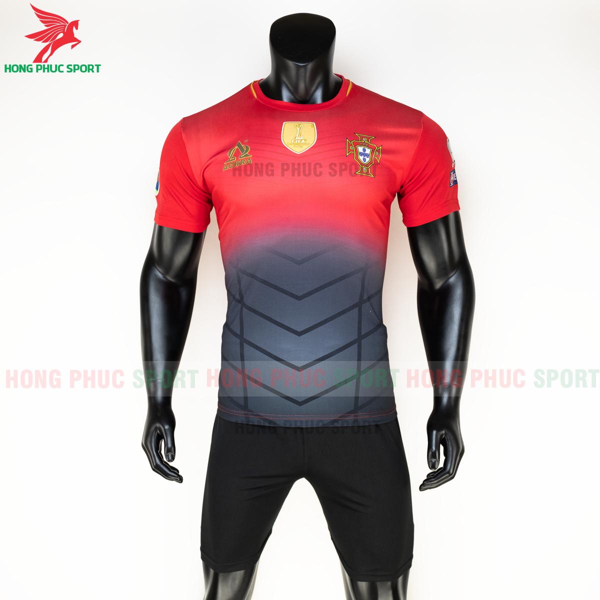 Áo tuyển Bồ Đào Nha 2020 phiên bản Fan hàng dệt (trước)