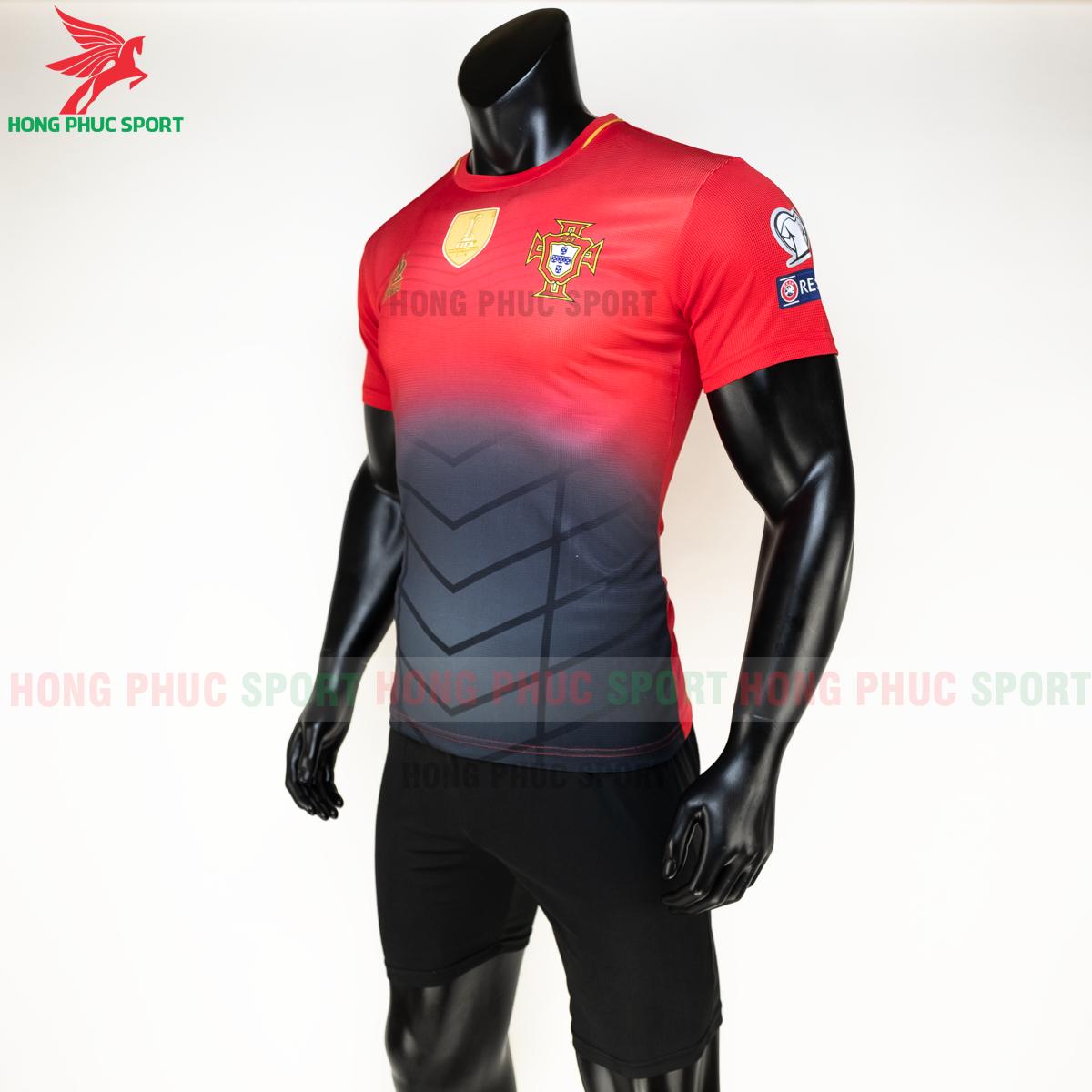 Áo tuyển Bồ Đào Nha 2020 phiên bản Fan hàng dệt (trái)