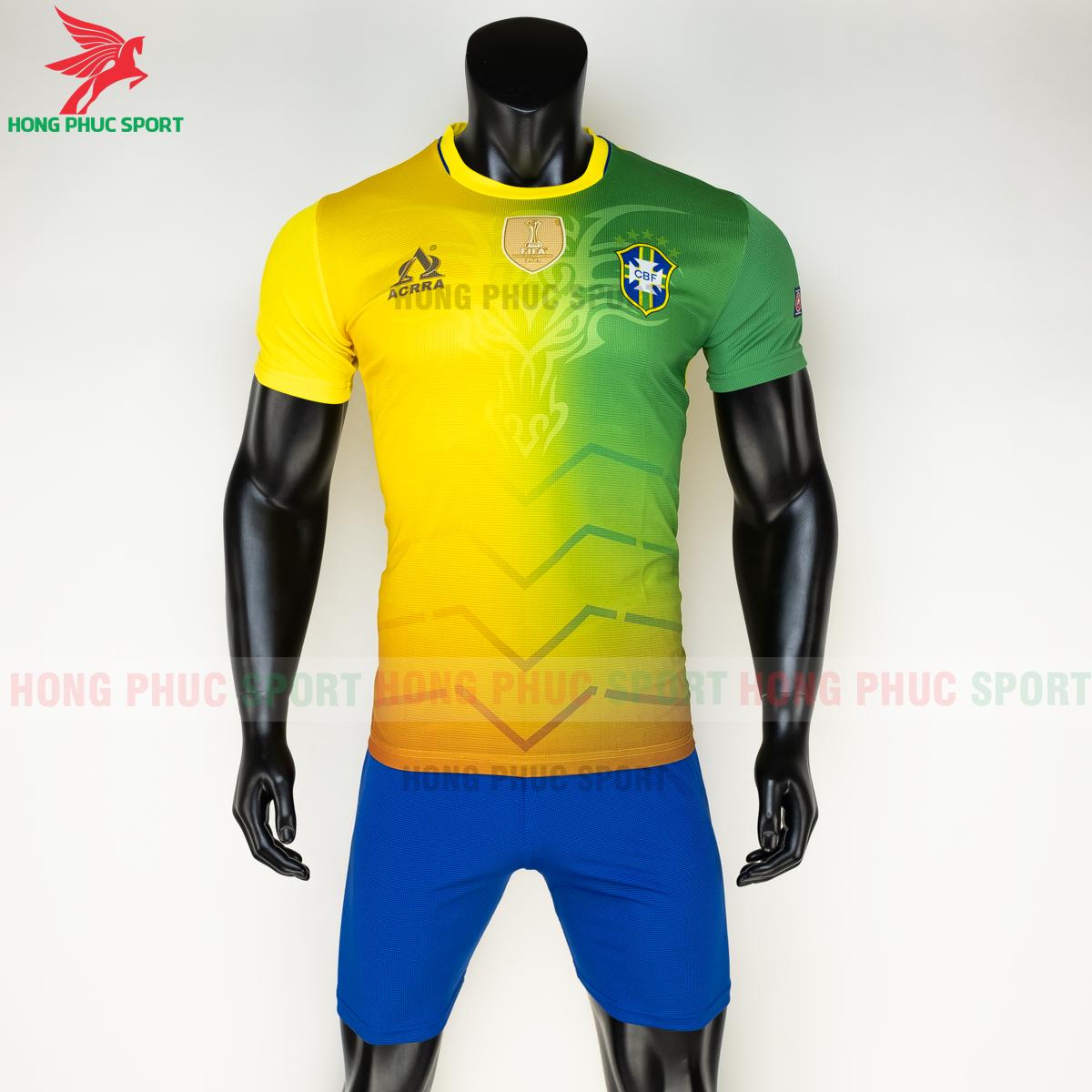 Áo tuyển Brazil 2020 phiên bản Fan hàng dệt (trước)