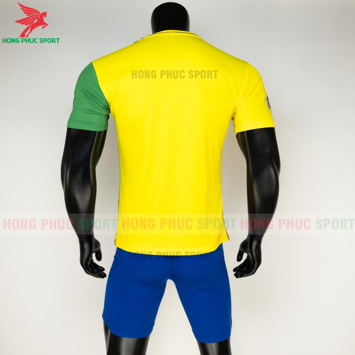 Áo tuyển Brazil 2020 phiên bản Fan hàng dệt (sau)