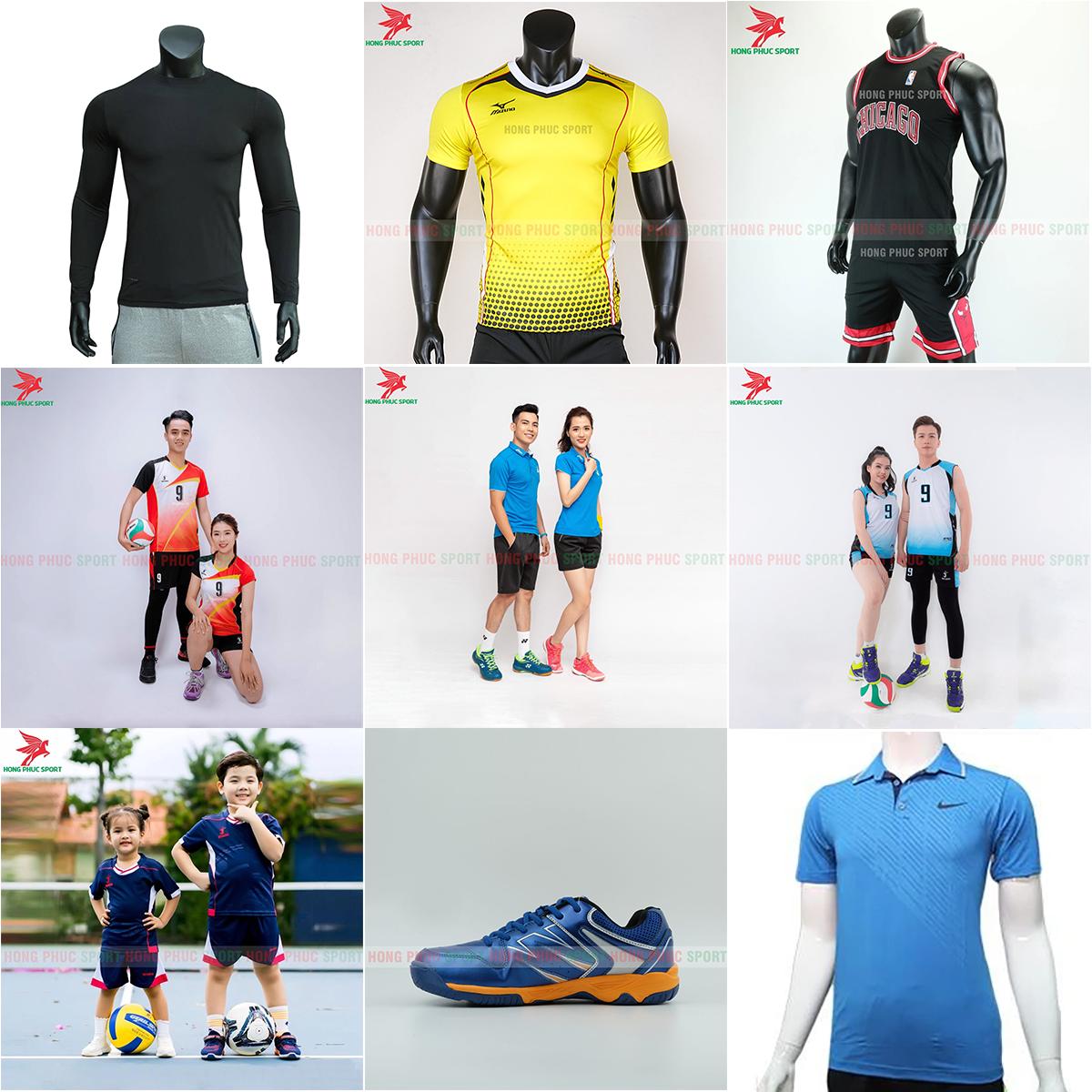 Đồ thể thao khác: bóng rổ, bóng chuyền, tennis, cầu lông,...