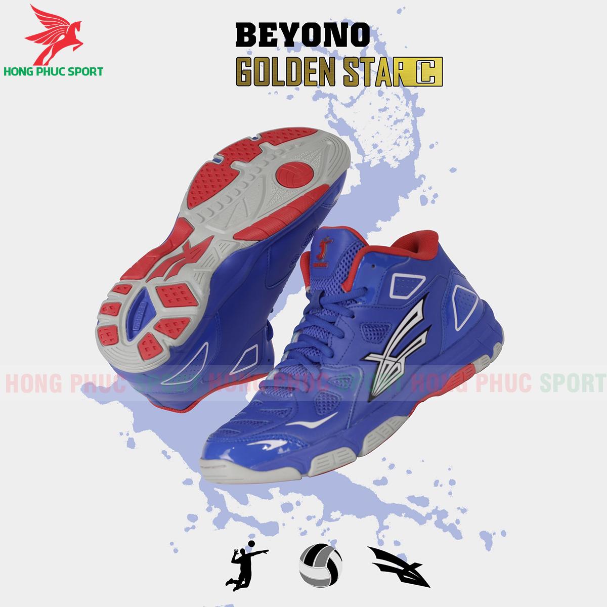Giày bóng chuyền Beyono Golden Star C màu xanh dương
