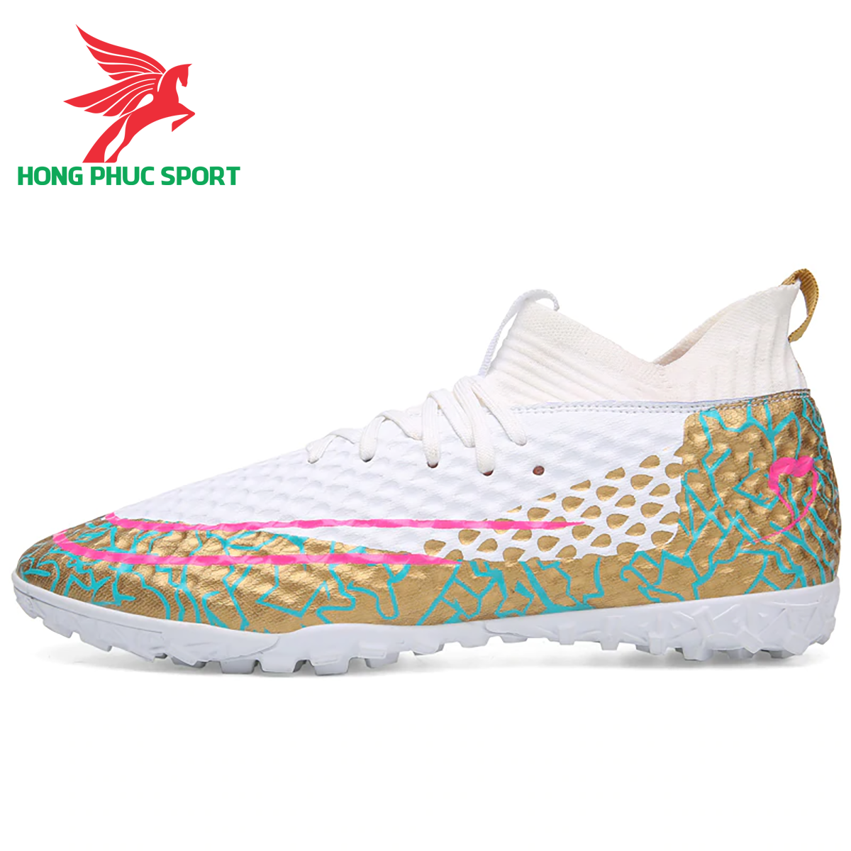 Giày đá banh cổ cao Future 5.1 TF màu trắng