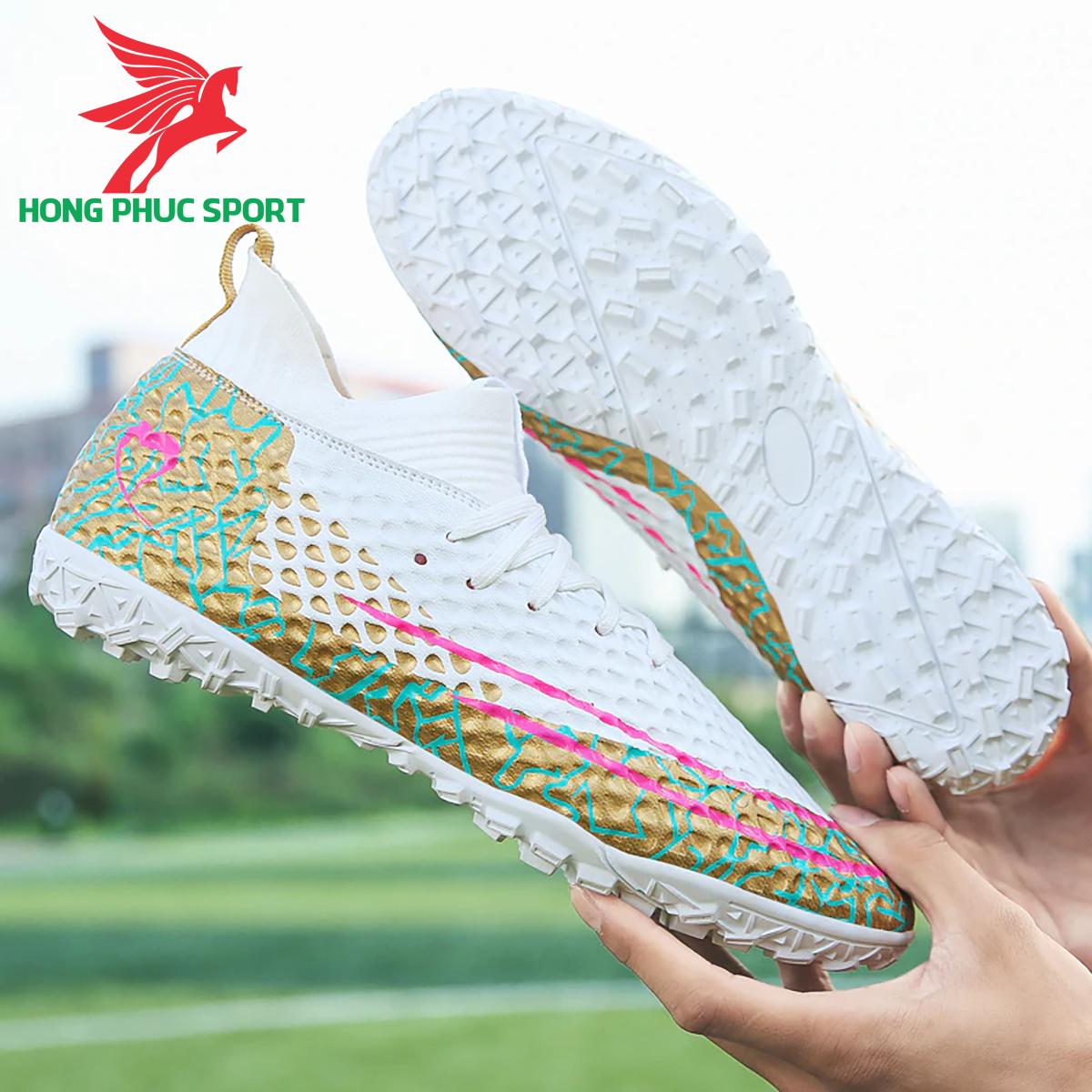 Giày đá banh cổ cao Future 5.1 TF màu trắng (1)