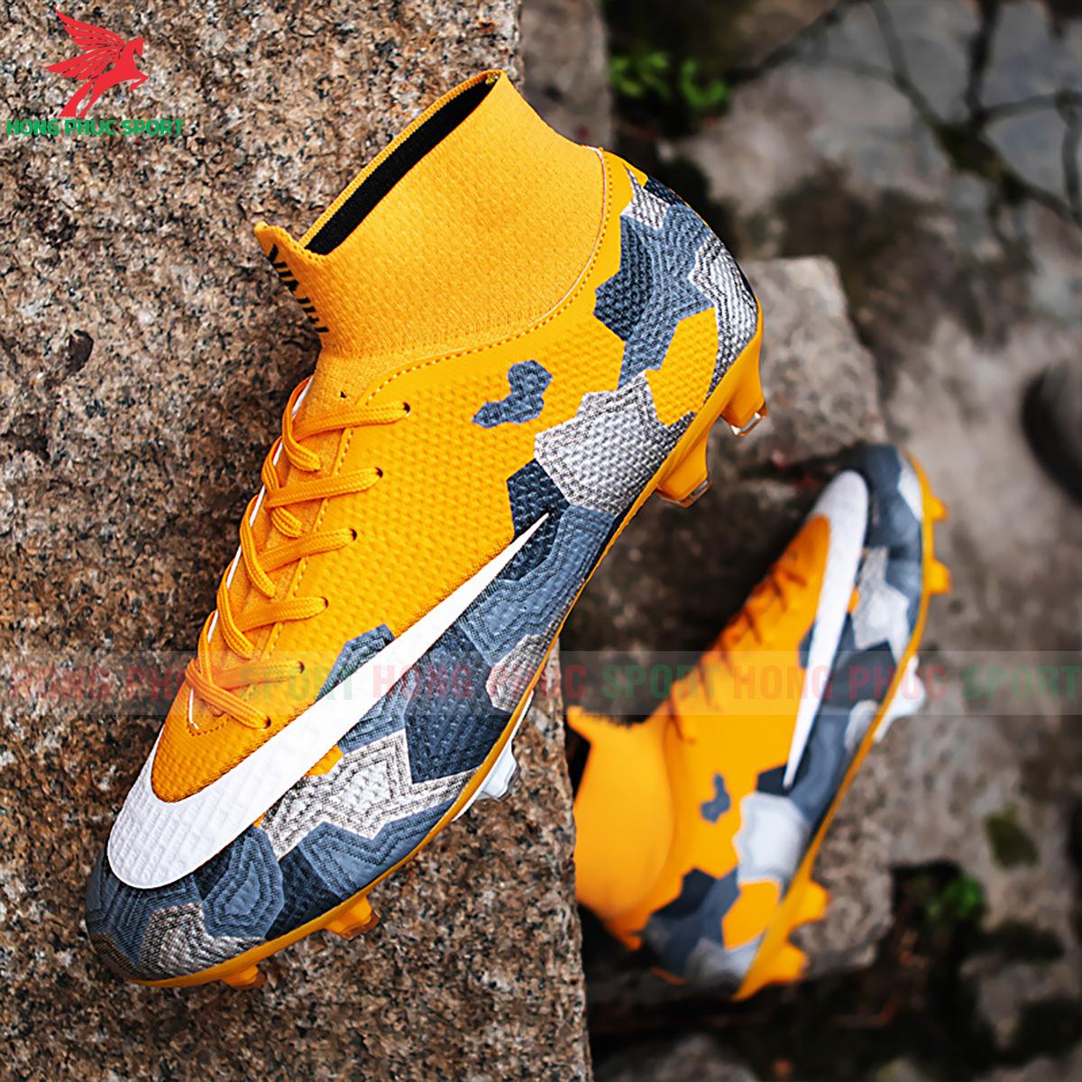 Giày đá banh Superfly VII Mbappe V2 2020 FG mẫu 1 màu vàng