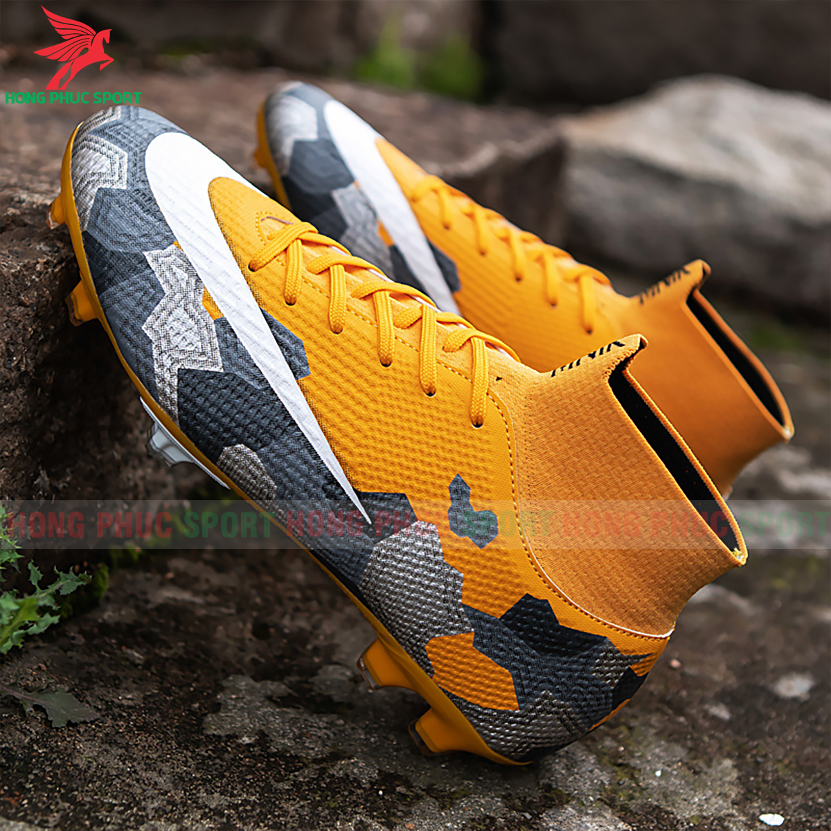 Giày đá banh Superfly VII Mbappe V2 2020 FG mẫu 1 màu vàng (2)