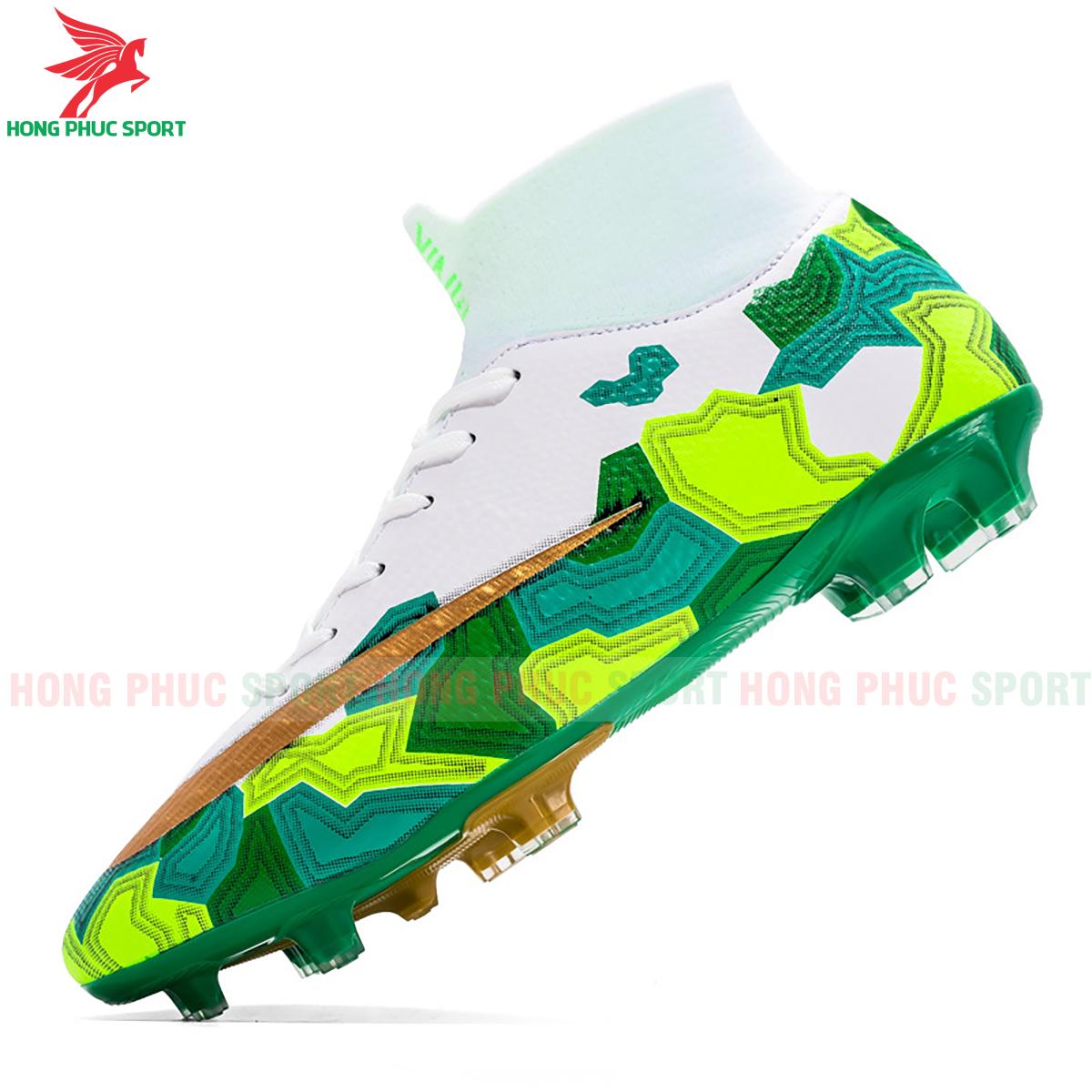 Giày đá banh Superfly VII Mbappe V2 2020 FG mẫu 2 màu xanh lá (2)