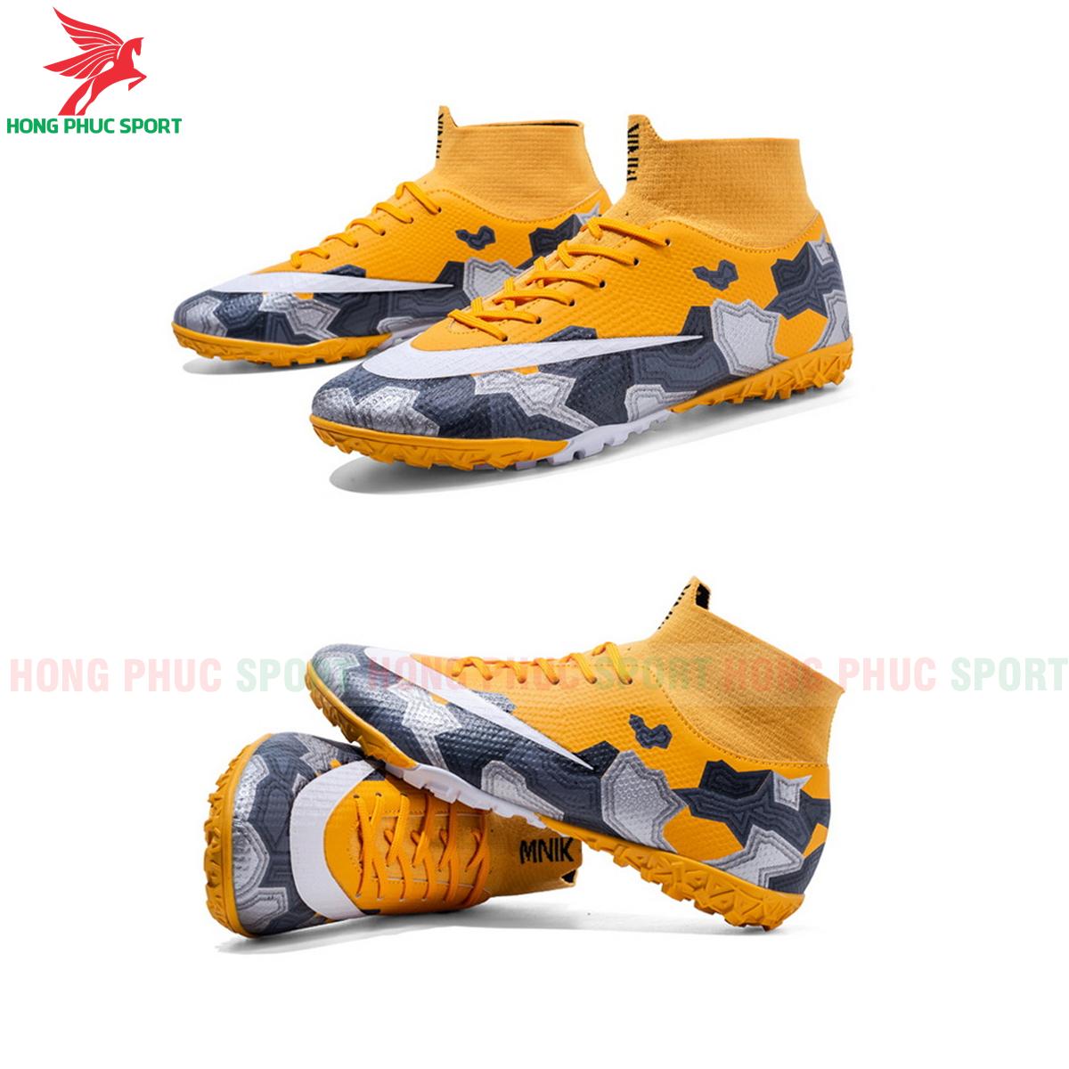 Giày đá banh Superfly VII Mbappe V2 2020 TF mẫu 1 màu vàng(1)