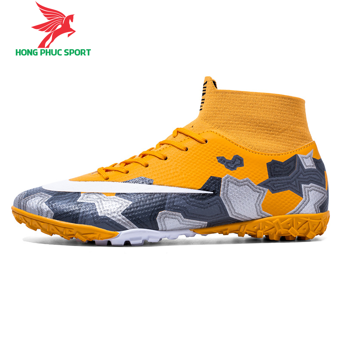 Giày đá banh Superfly VII Mbappe V2 2020 TF mẫu 1 màu vàng