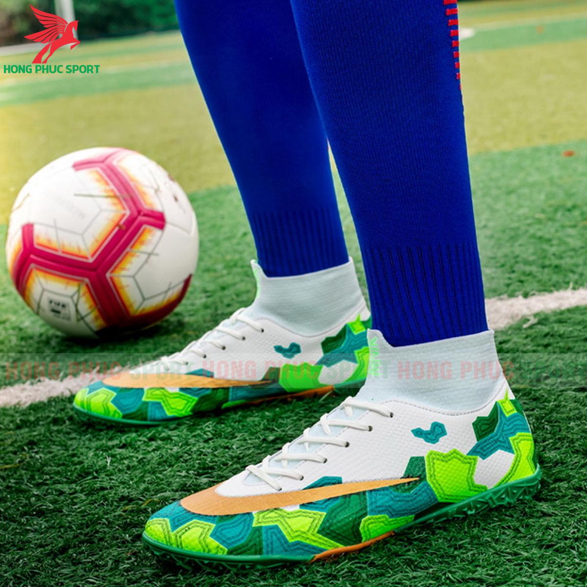 Giày đá banh Superfly VII Mbappe V2 2020 TF mẫu 2 màu xanh lá (2)