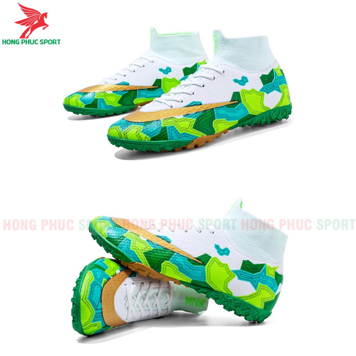 Giày đá banh Superfly VII Mbappe V2 2020 TF mẫu 2 màu xanh lá (1)