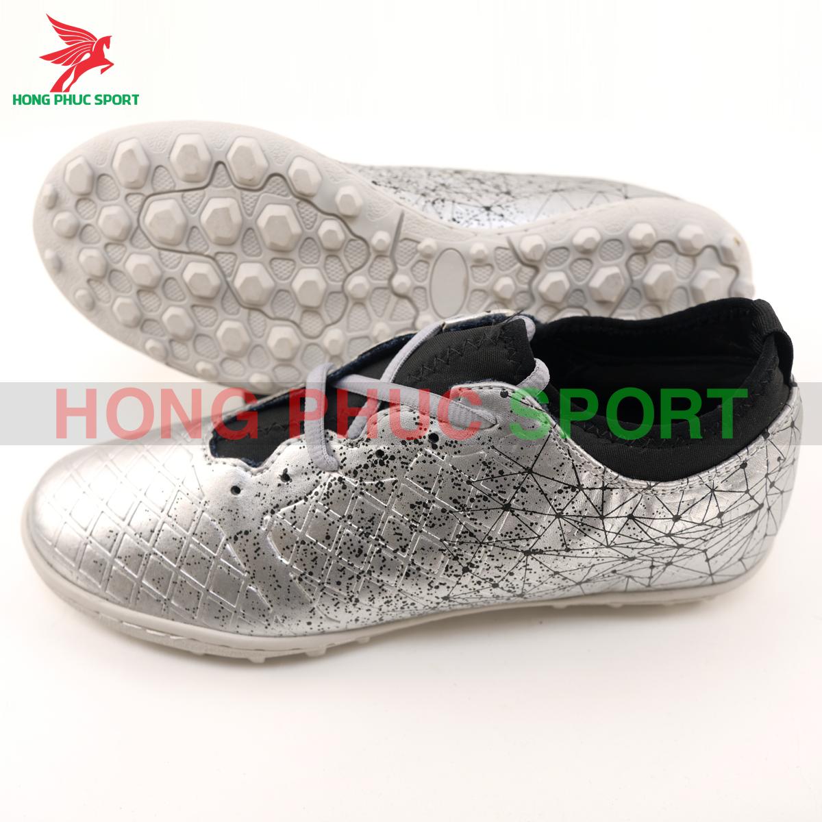 Giày đá banh Hồng Phúc Sport Premium 21.1 màu bạc