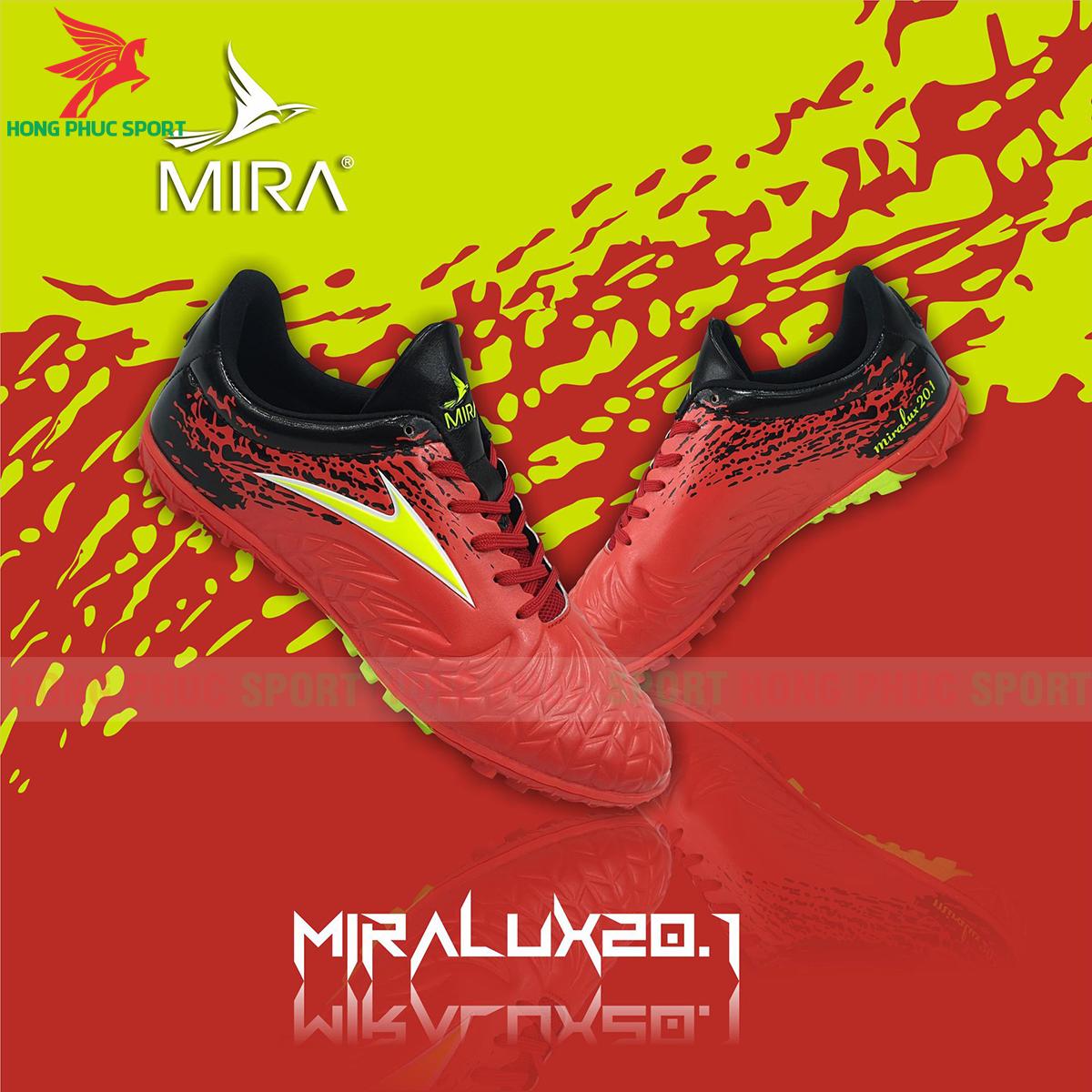 Giày Mira Lux 20.1 sân cỏ nhân tạo màu đỏ phối đen