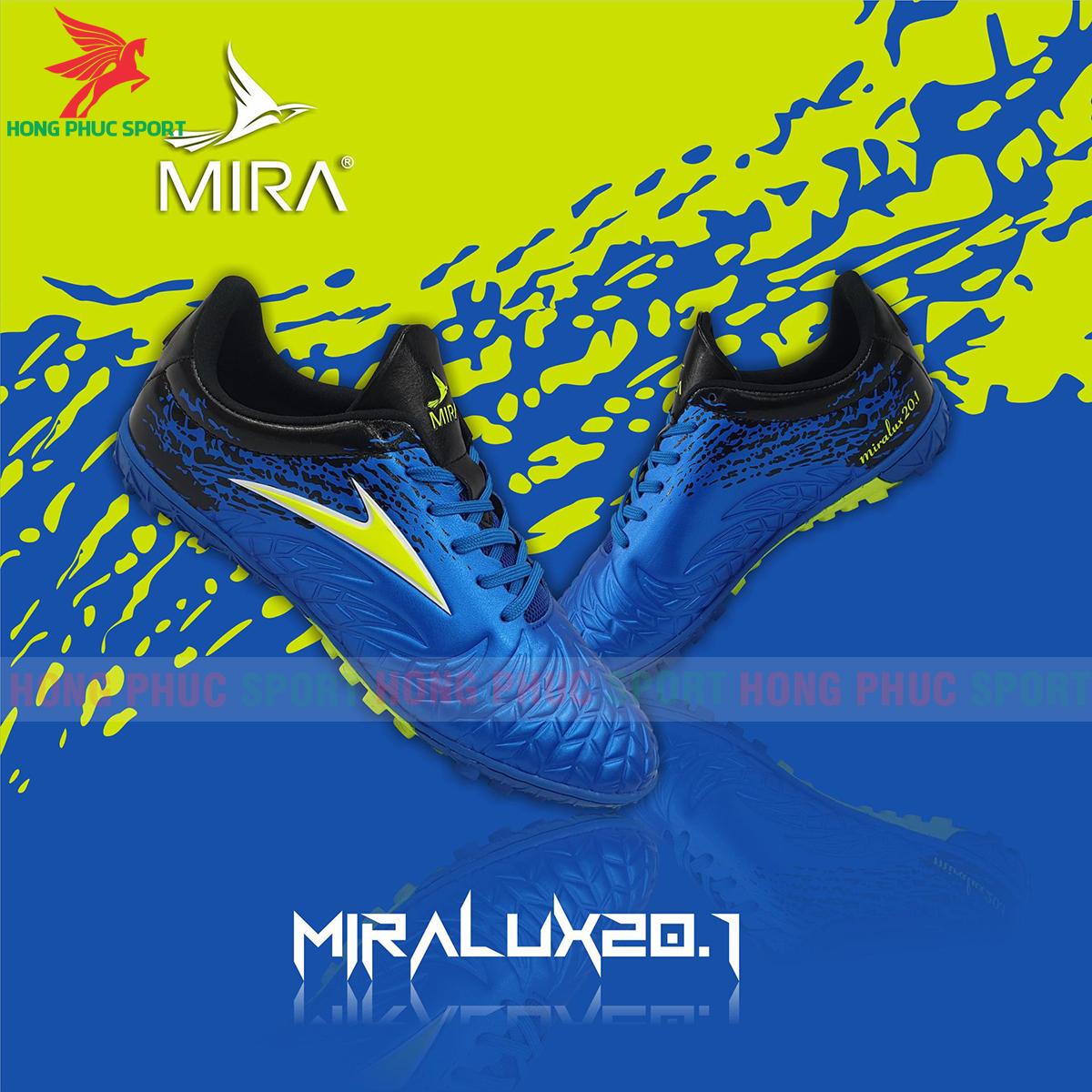 Giày Mira Lux 20.1 sân cỏ nhân tạo màu xanh dương phối đen
