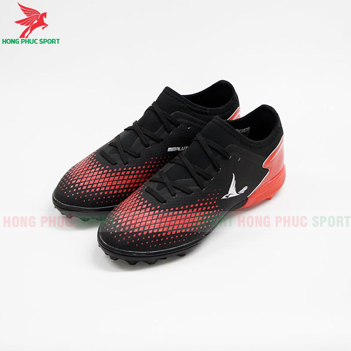Giày Mira Lux 20.3 sân cỏ nhân tạo đen phối đỏ