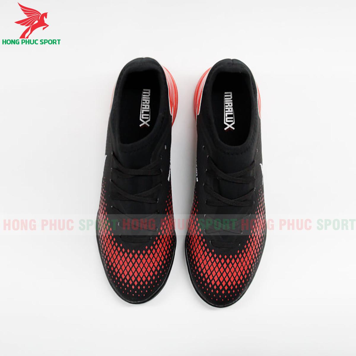 Giày Mira Lux 20.3 sân cỏ nhân tạo đen phối đỏ (trước)