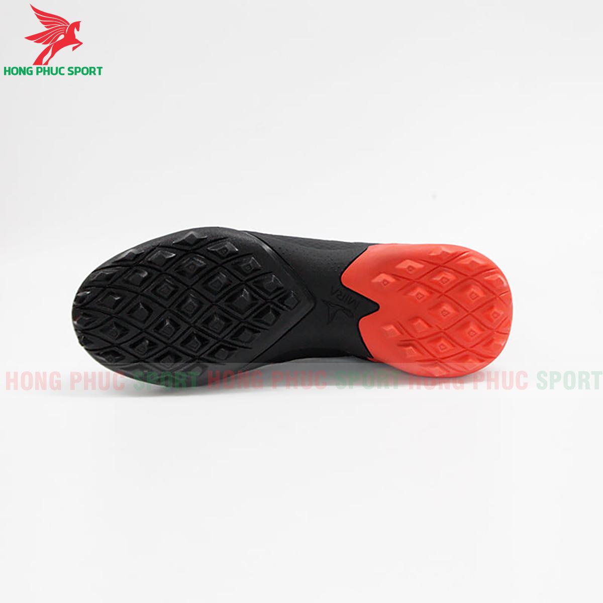 Giày Mira Lux 20.3 sân cỏ nhân tạo đen phối đỏ (đế)
