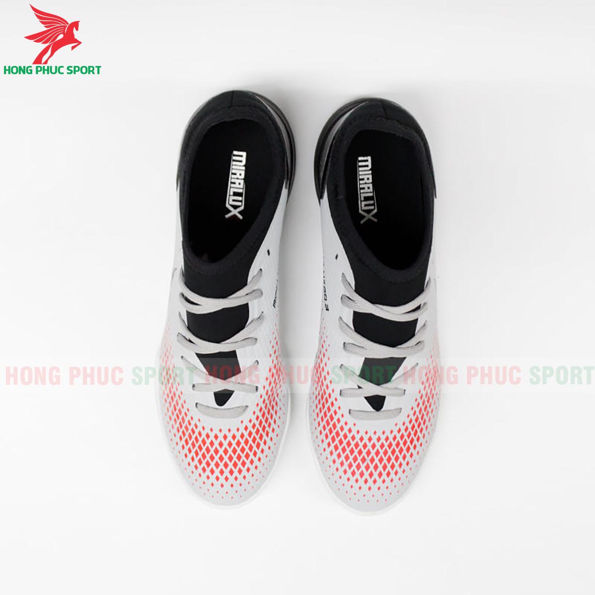 Giày Mira Lux 20.3 sân cỏ nhân tạo bạc phối đen (trước)
