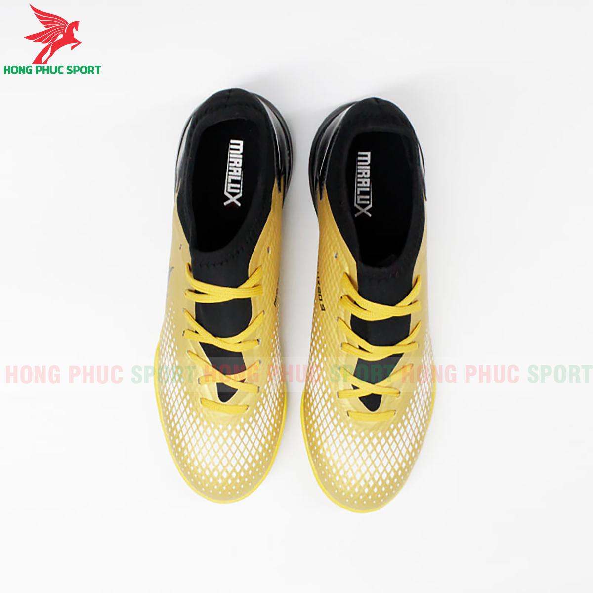 Giày Mira Lux 20.3 sân cỏ nhân tạo vàng phối đen (trước)