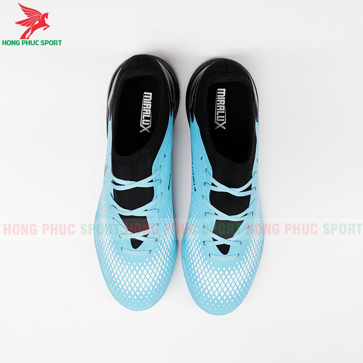 Giày Mira Lux 20.3 sân cỏ nhân tạo xanh ngọc phối đen (trước)