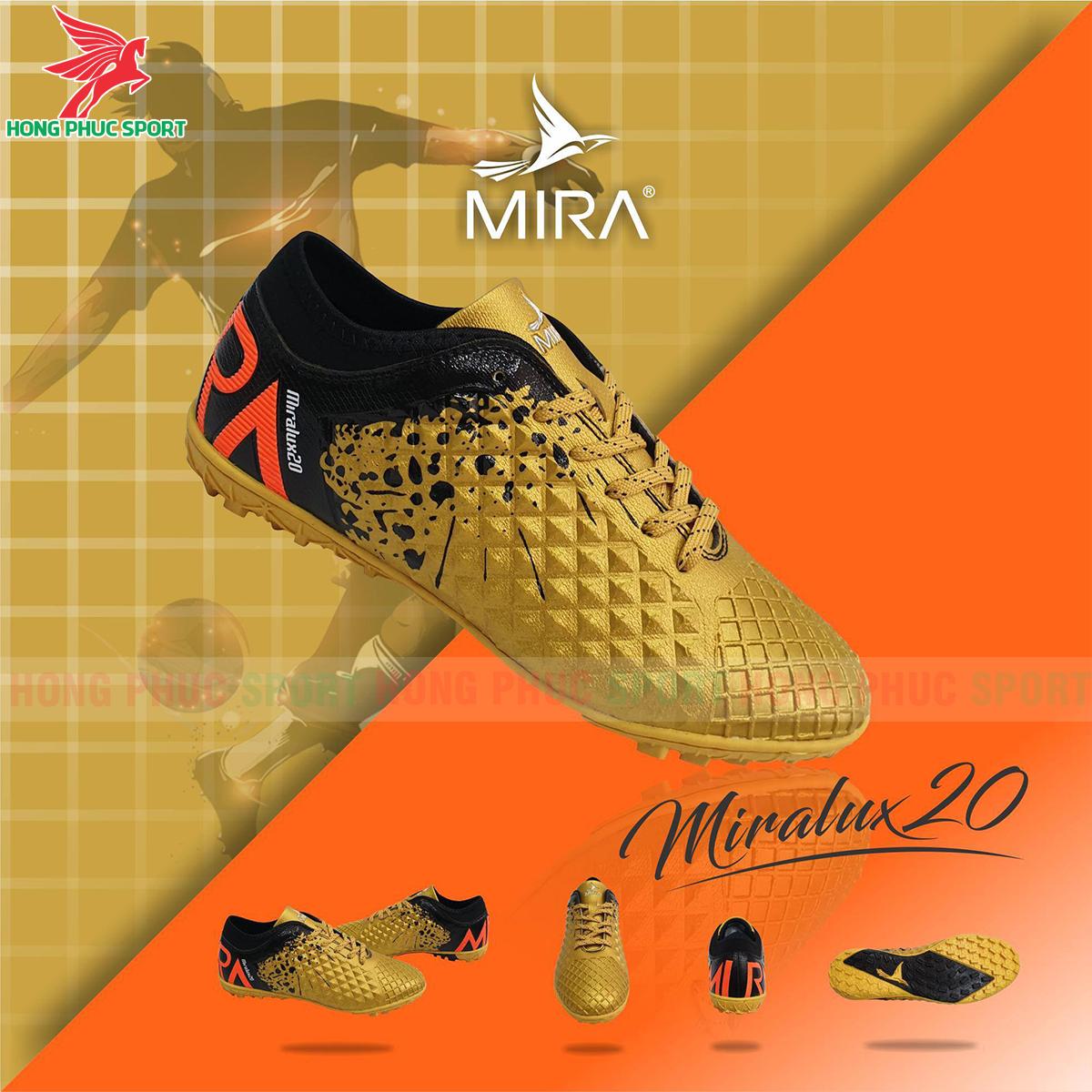 Giày Mira Lux 20.2 sân cỏ nhân tạo màu vàng phối đen