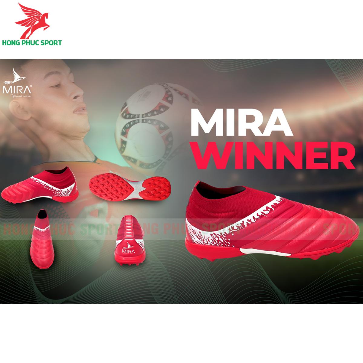 Giày Mira Winner sân cỏ nhân tạo màu đỏ