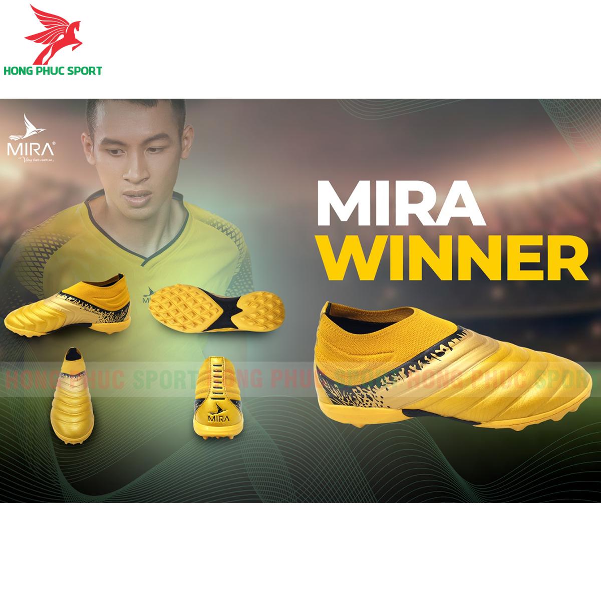 Giày Mira Winner sân cỏ nhân tạo màu vàng