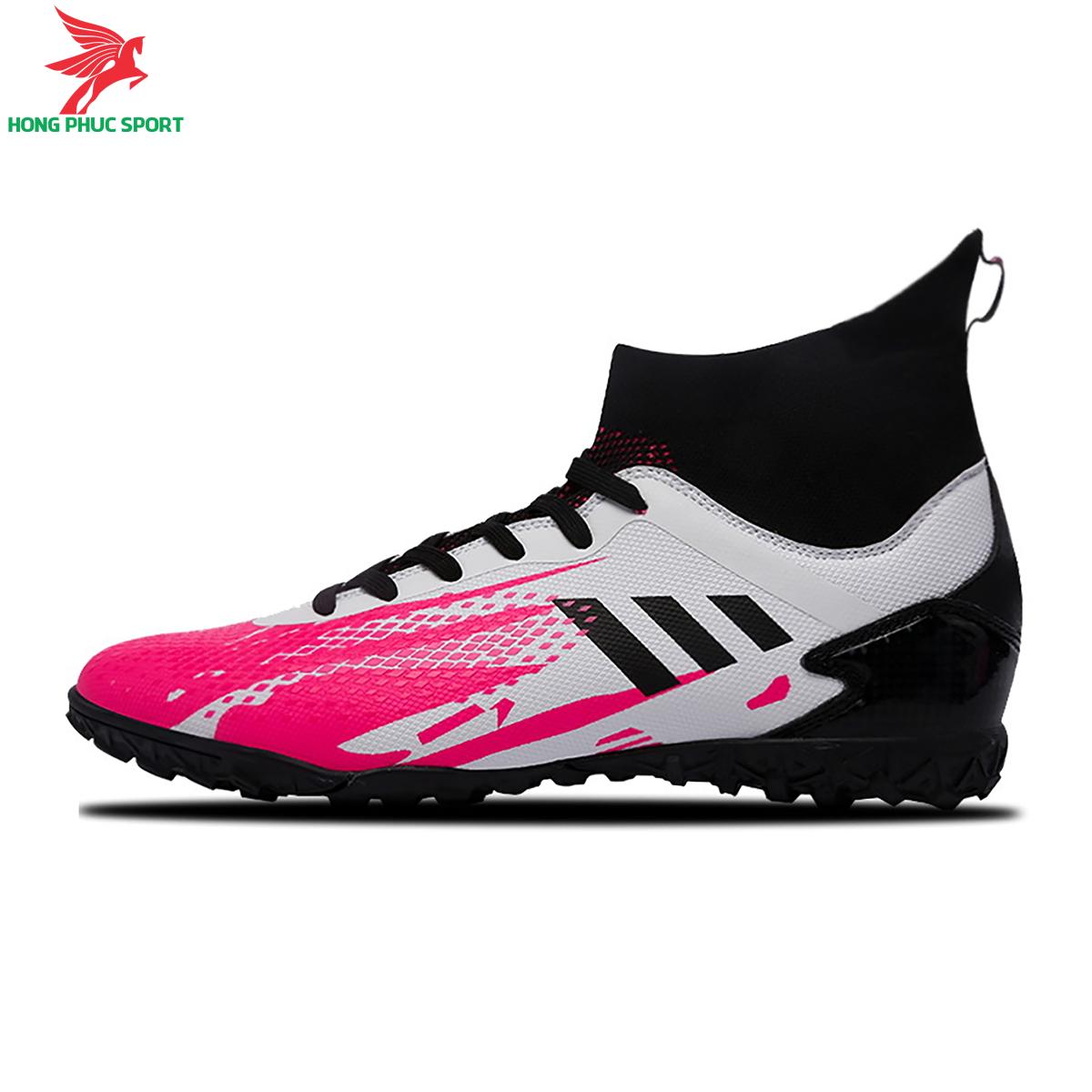 Giày đá banh cổ cao Predator 20.3 TF màu trắng hồng