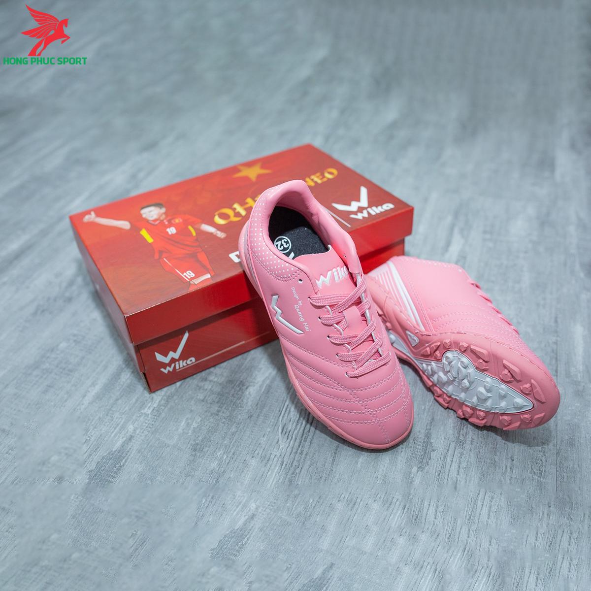 Giày đá banh Wika QH19 Neo Kids sân cỏ nhân tạo màu Hồng (3)