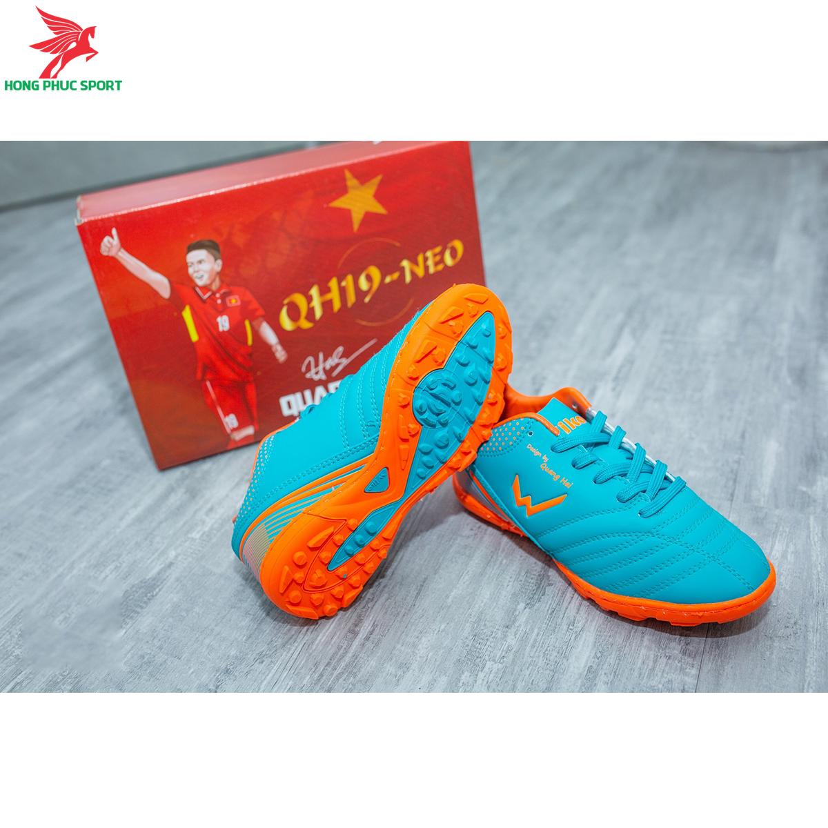 Giày đá banh Wika QH19 Neo Kids sân cỏ nhân tạo màu Xanh ngọc (3)