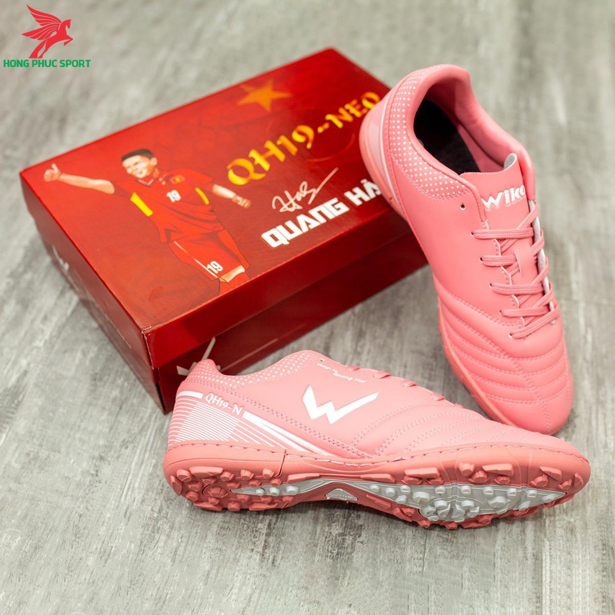 Giày đá banh Wika QH19 Neo sân cỏ nhân tạo màu Hồng (3)