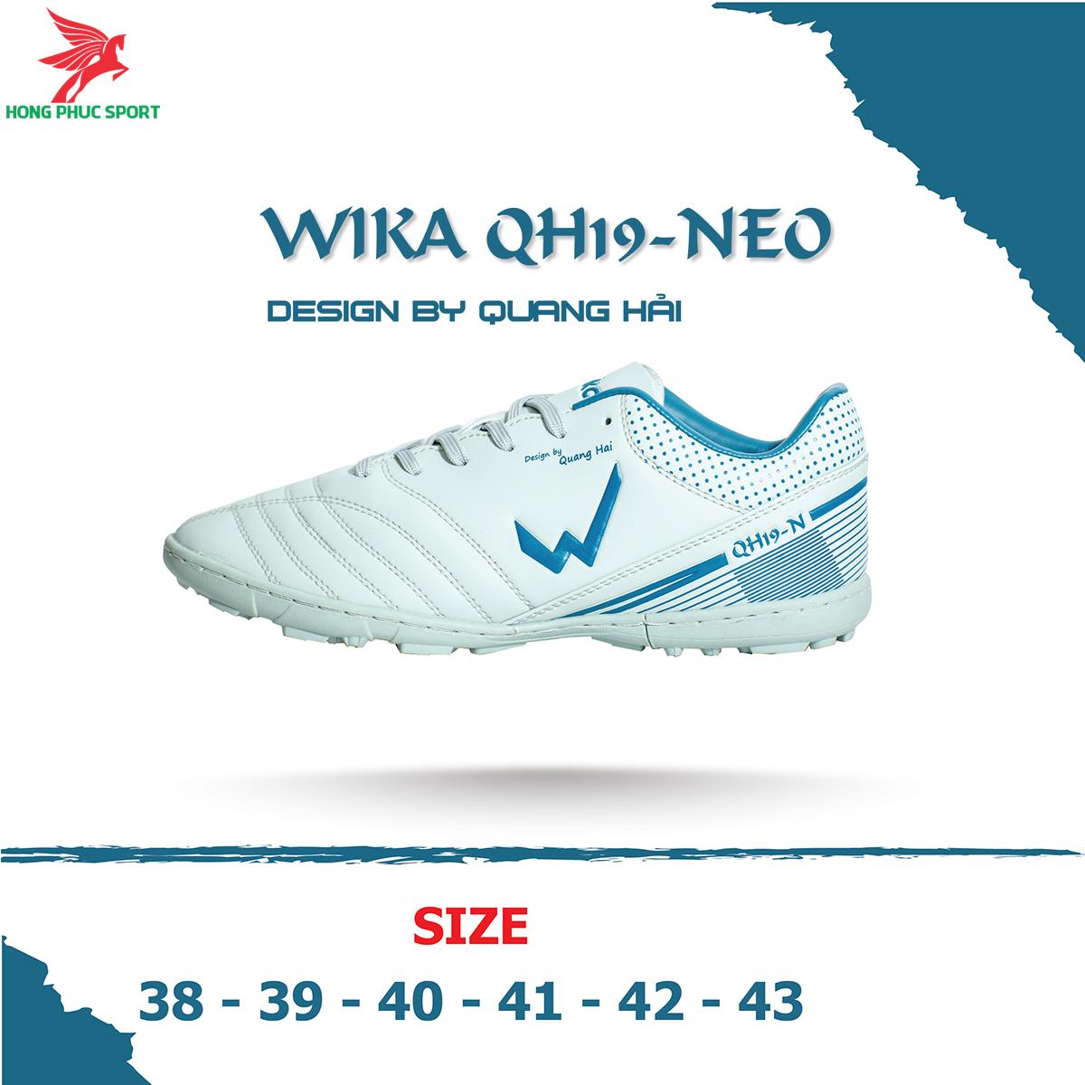 Giày đá banh Wika QH19 Neo sân cỏ nhân tạo màu Xám (2)