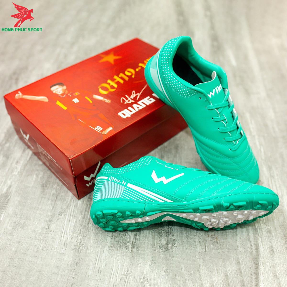 Giày đá banh Wika QH19 Neo sân cỏ nhân tạo màu Xanh lam (3)