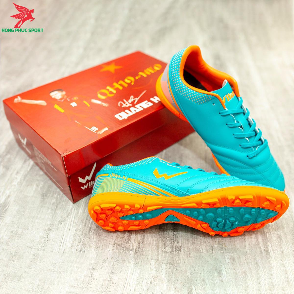 Giày đá banh Wika QH19 Neo sân cỏ nhân tạo màu Xanh ngọc (3)