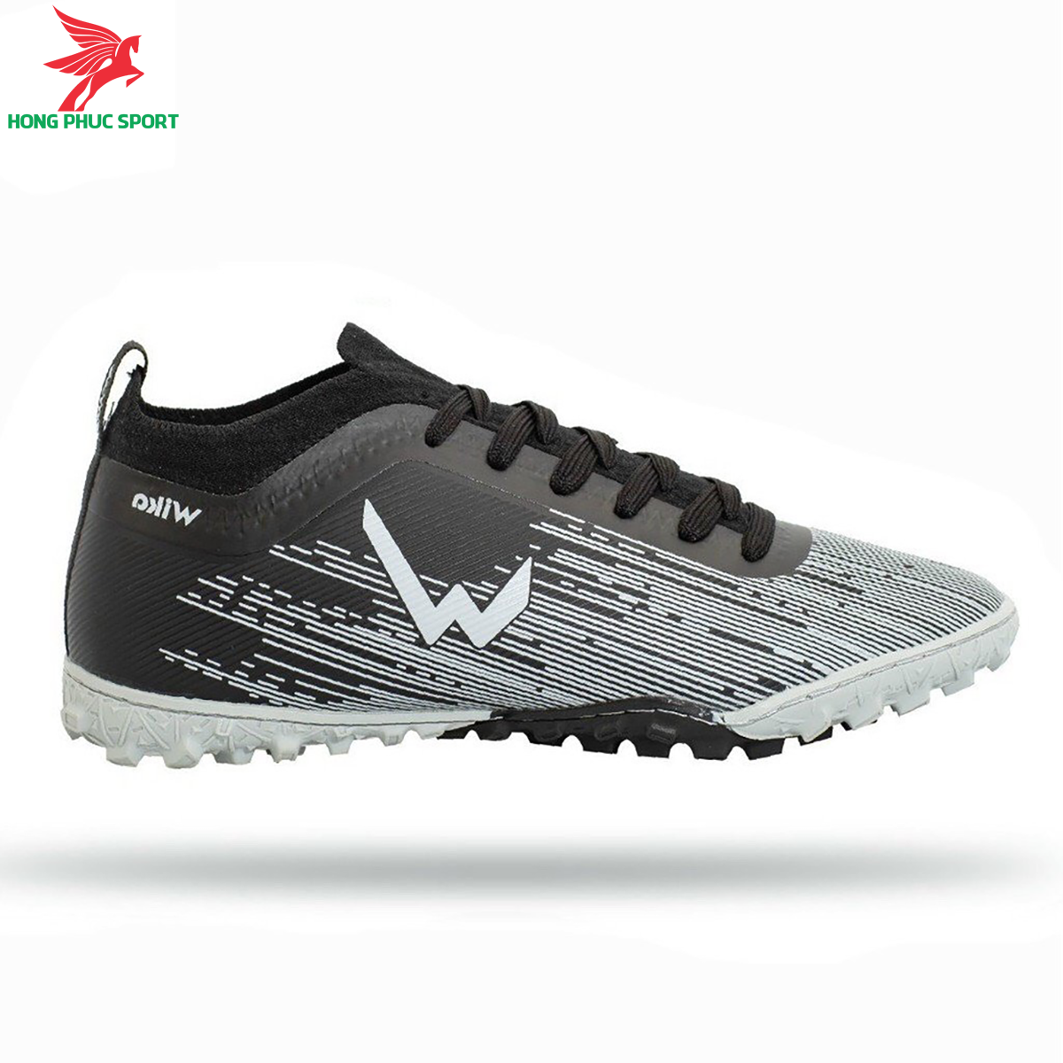 Giày đá banh Wika Subasa đế TF màu đen