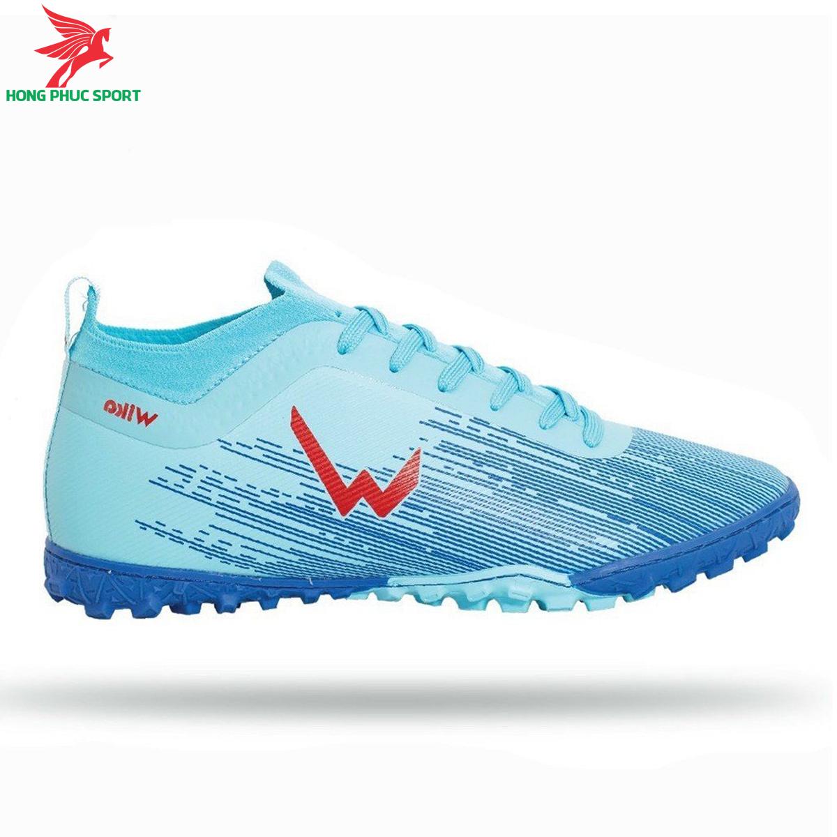 Giày đá banh Wika Subasa đế TF màu xanh ngọc