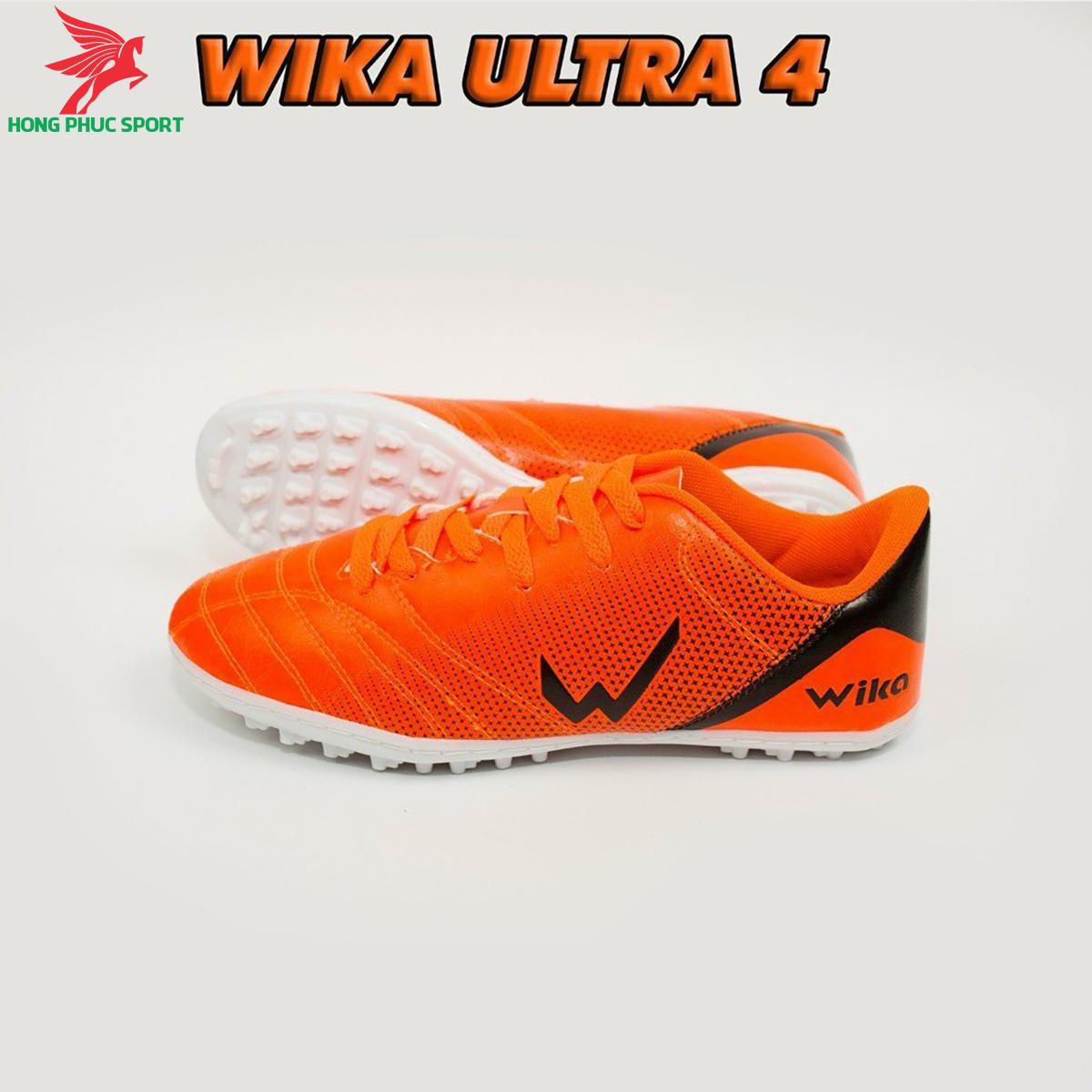 Giày đá banh Wika Ultra 4đế TF màu cam