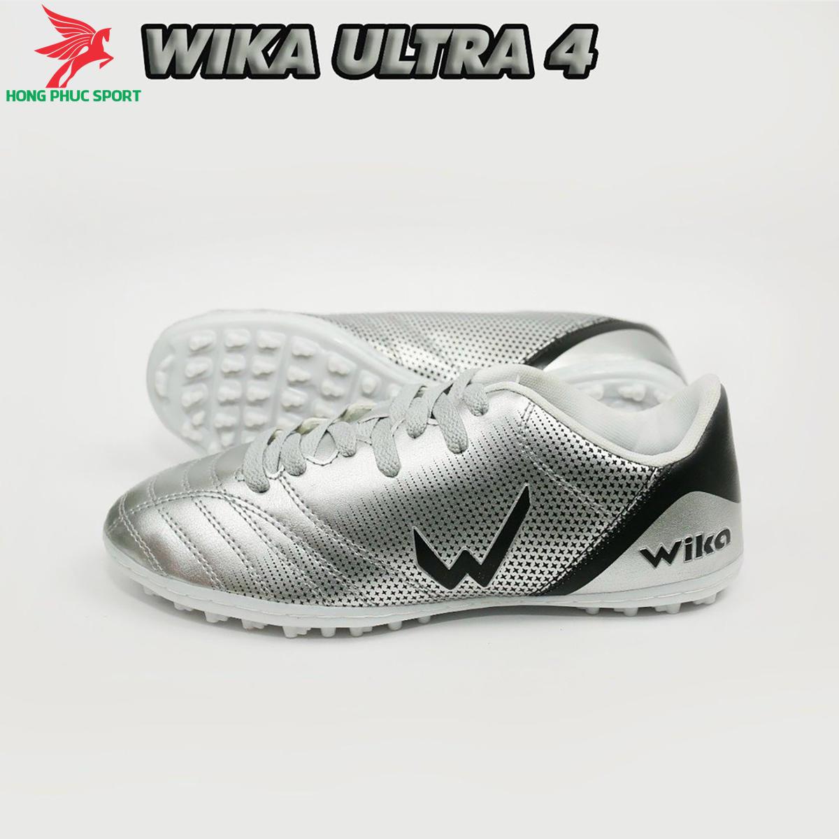 Giày đá banh Wika Ultra 4đế TF màu Bạc