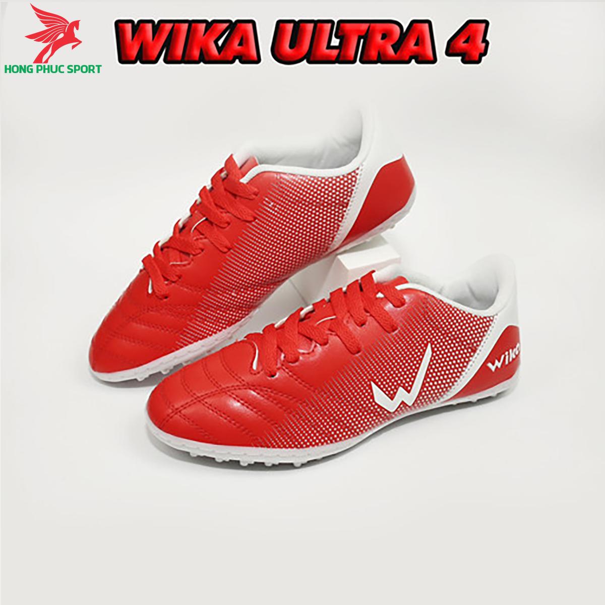 Giày đá banh Wika Ultra 4đế TF màu đỏ
