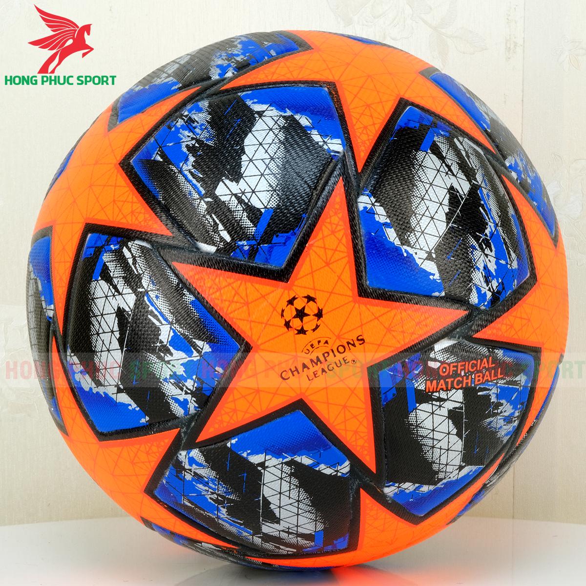 Quả bóng đá Champions League 2020 mẫu 2 màu cam