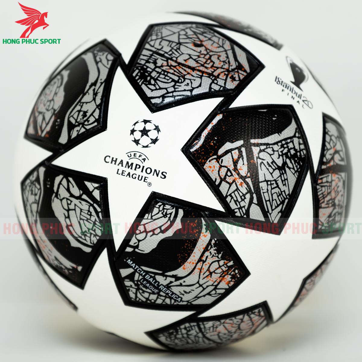 Quả bóng đá Champions League 2020 mẫu 7 đen trắng