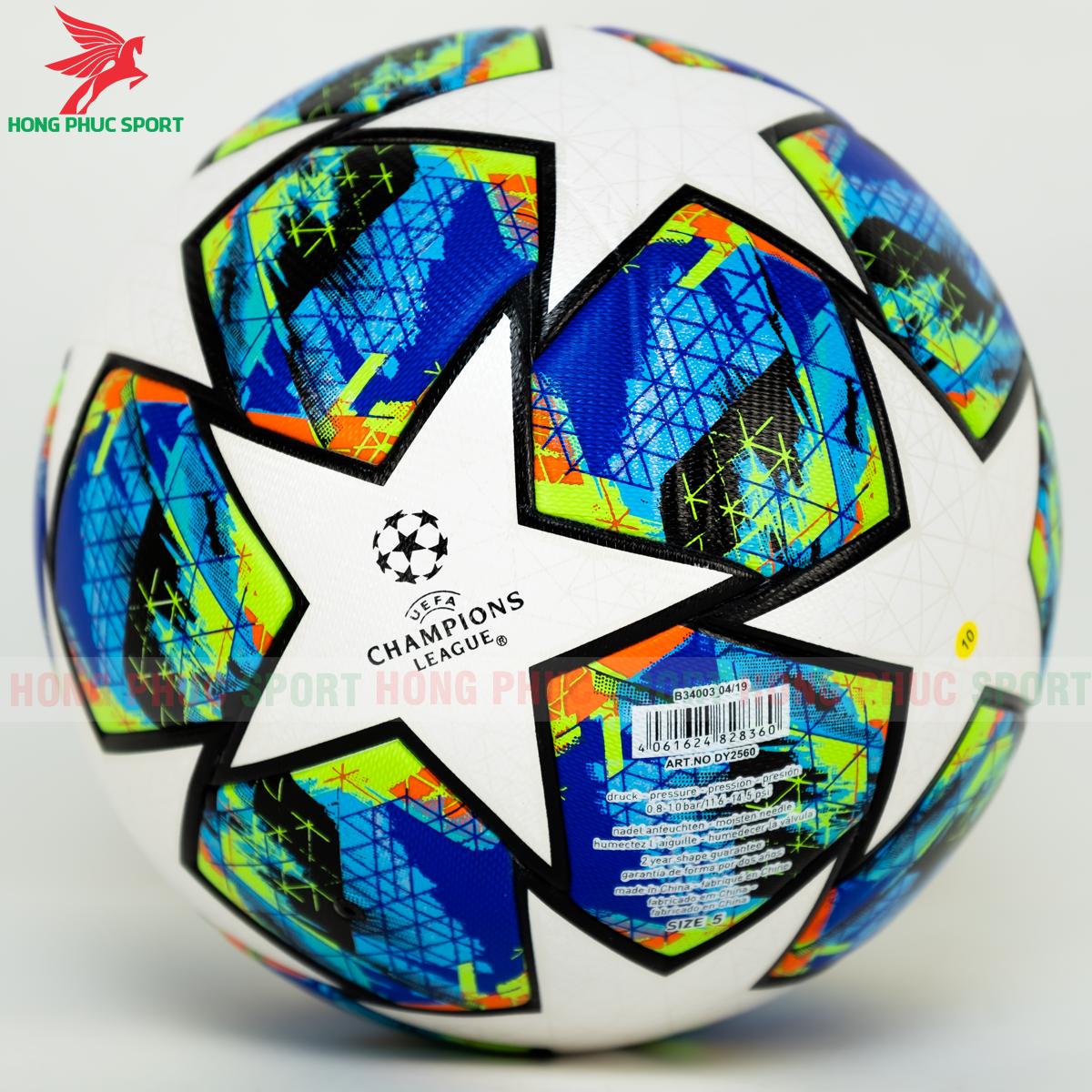 Quả bóng đá Champions League 2020 mẫu 8 trắng xanh