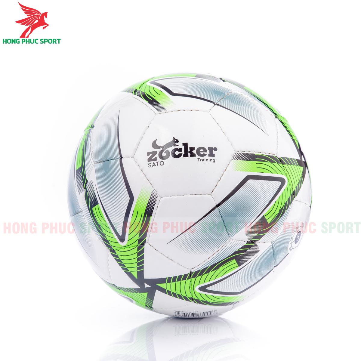 Quả bóng đá Zocker Sato S1901 mẫu 2màu xanh