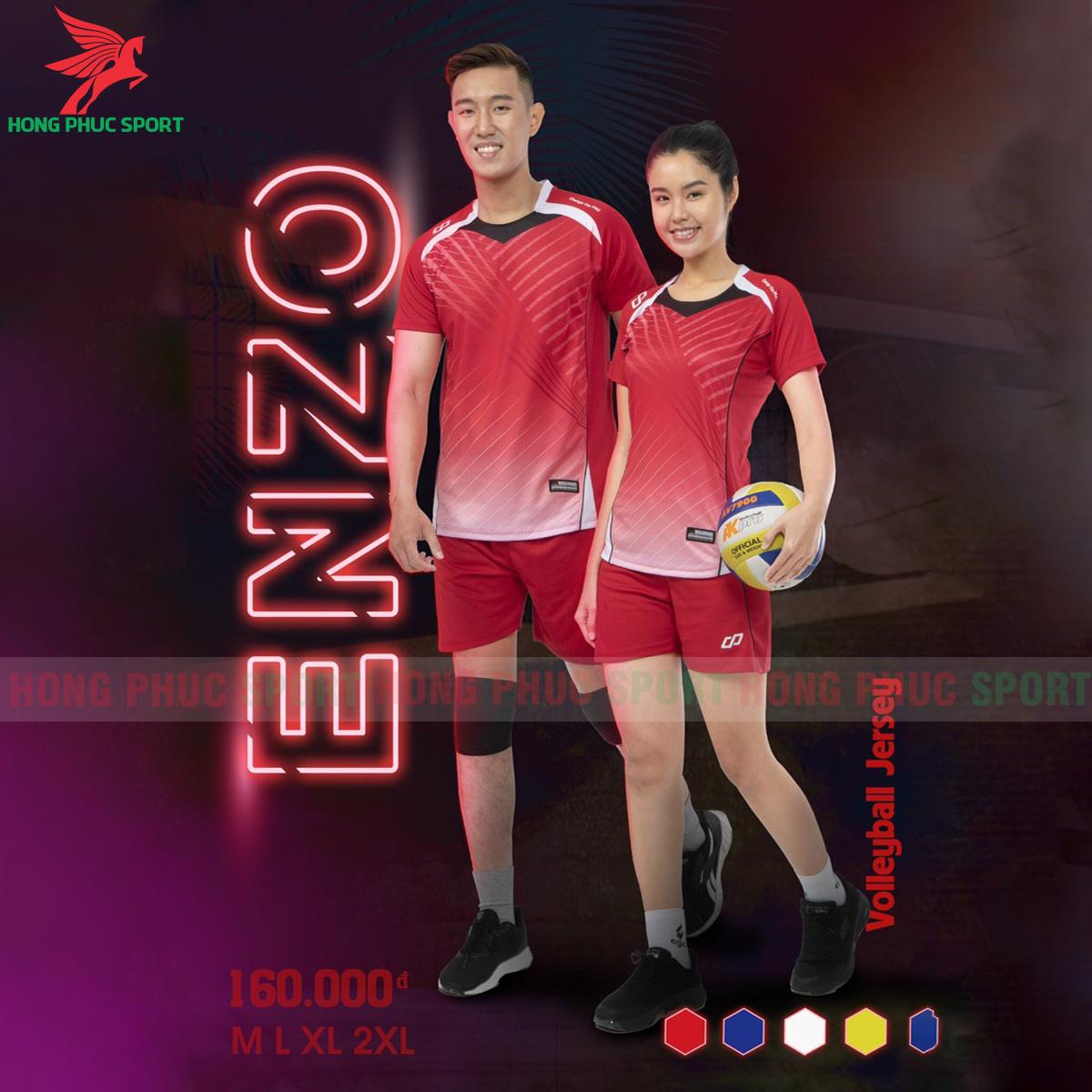 Quần áo bóng chuyềnCP Enzomàu Đỏ