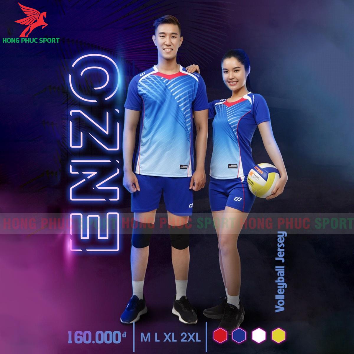 Quần áo bóng chuyềnCP Enzomàu xanh dương