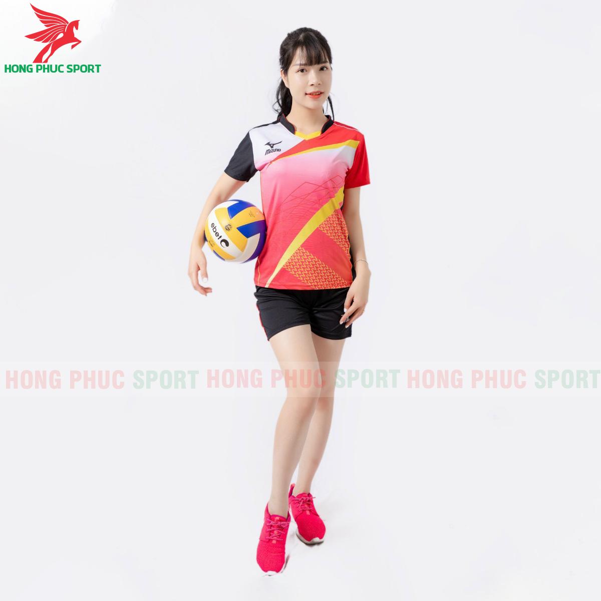Quần áo bóng chuyền Mizuno 2021màu đỏ