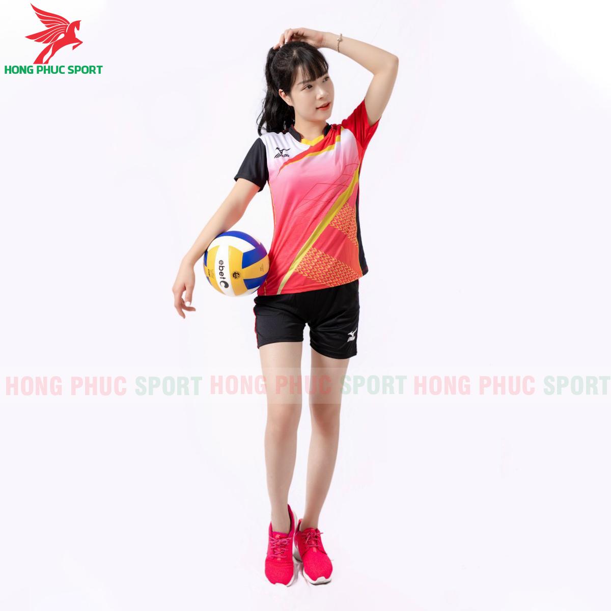 Quần áo bóng chuyền Mizuno 2021màu đỏ (2)
