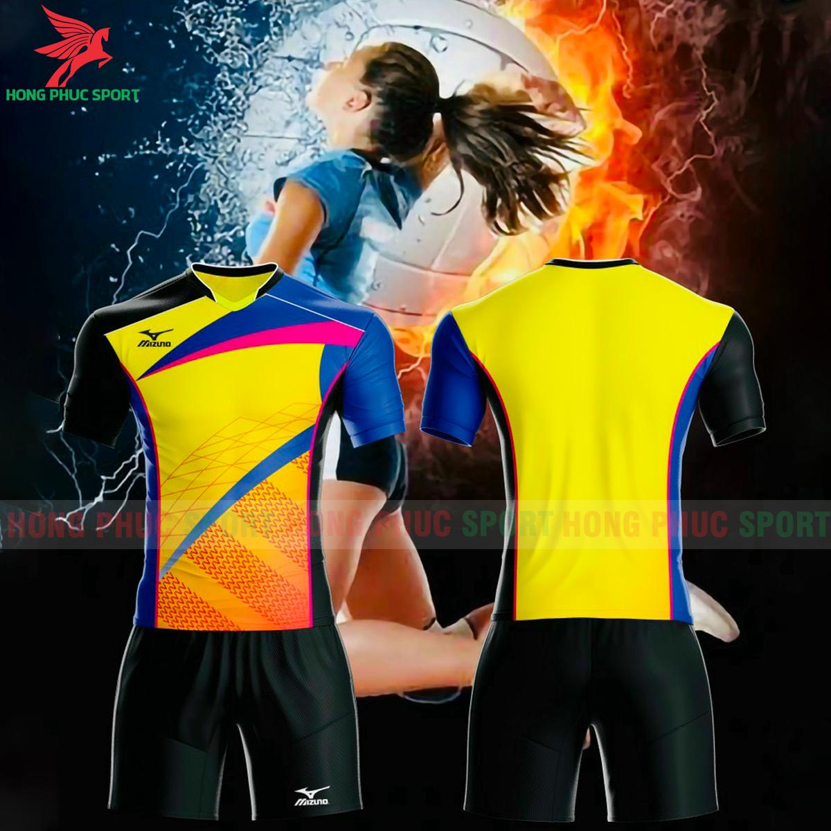 Quần áo bóng chuyền Mizuno 2021màu vàng
