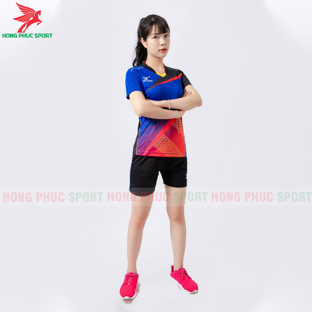 Quần áo bóng chuyền Mizuno 2021màu xanh(1)