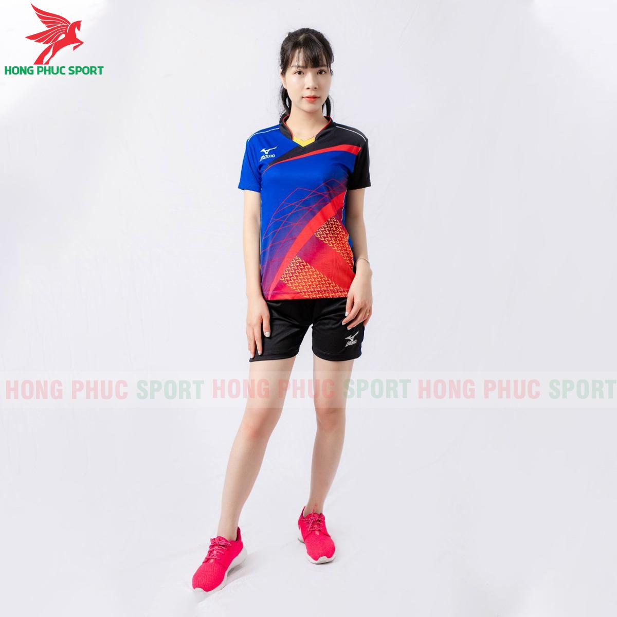 Quần áo bóng chuyền Mizuno 2021màu xanh(2)